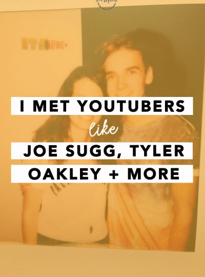 Meeting Youtubers like Joe Sugg, Tyler Oakley Zoella Zoe Sugg