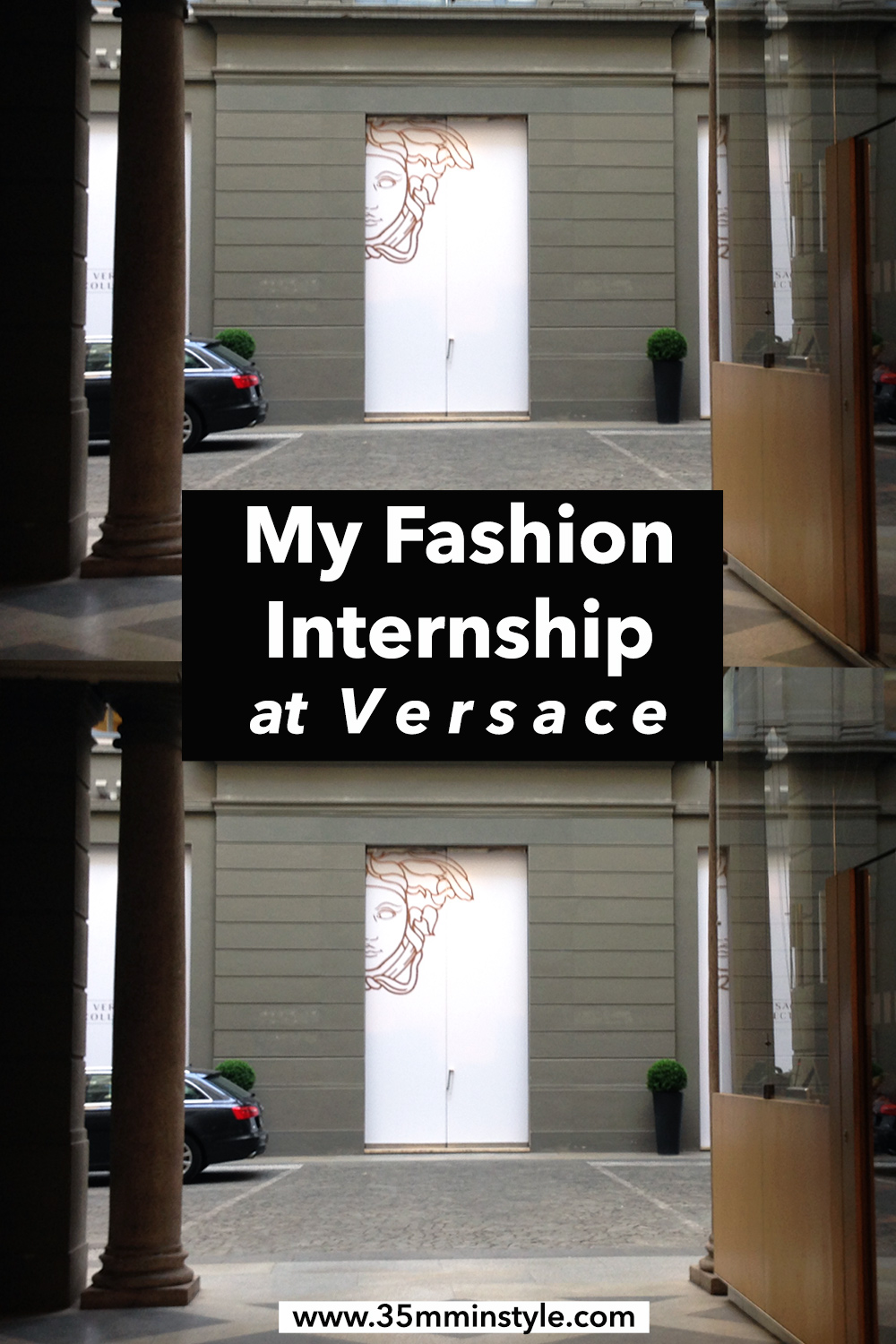 my fashion internship at versace