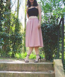 Pastel Pink Midi Skirt