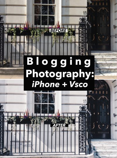 Blogging Photography: iPhone + vsco