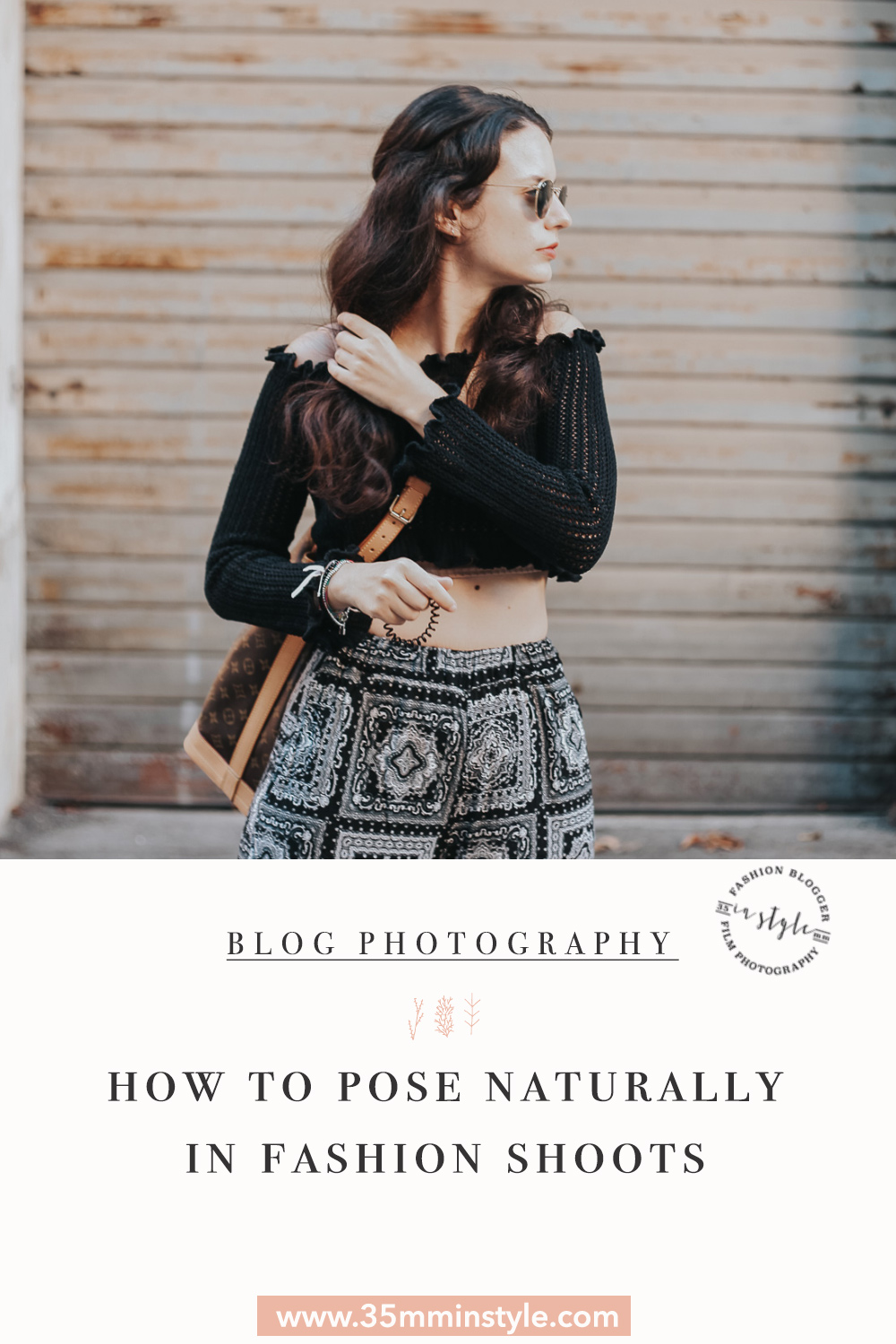 pinterest image for how to pose naturally