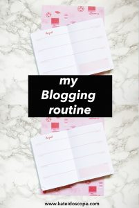 My Blogging Routine