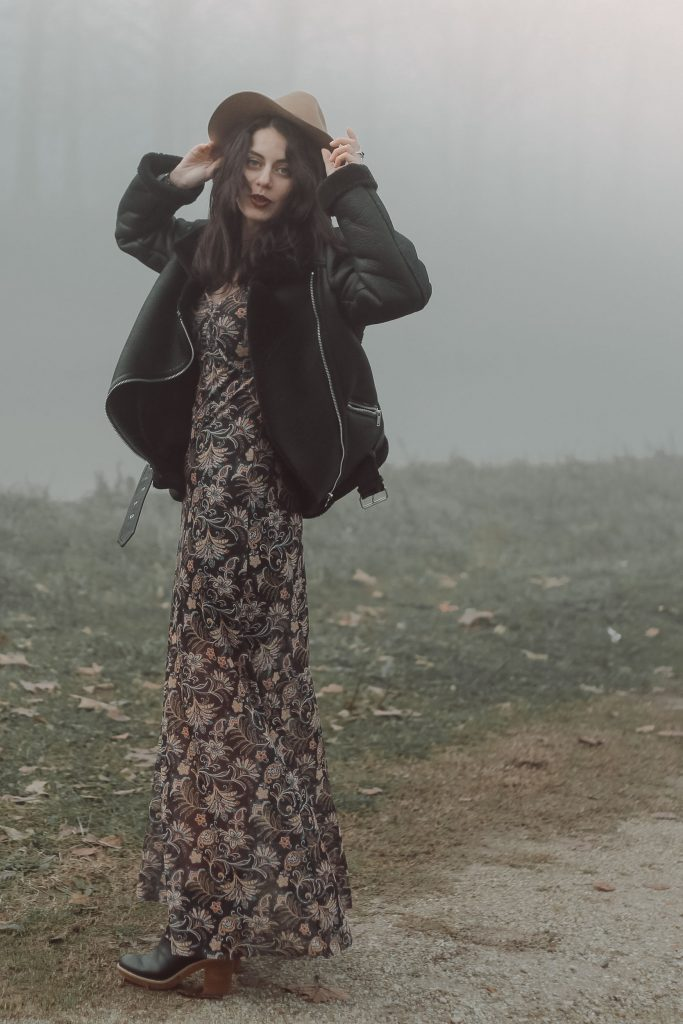 Long Gypsy Dress for Colder Days 35mminstyle