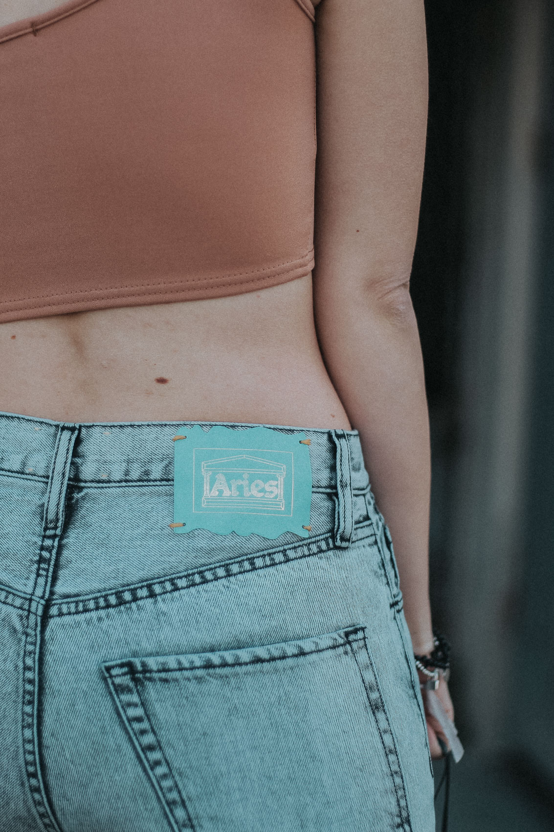 details on aries arise mom jeans