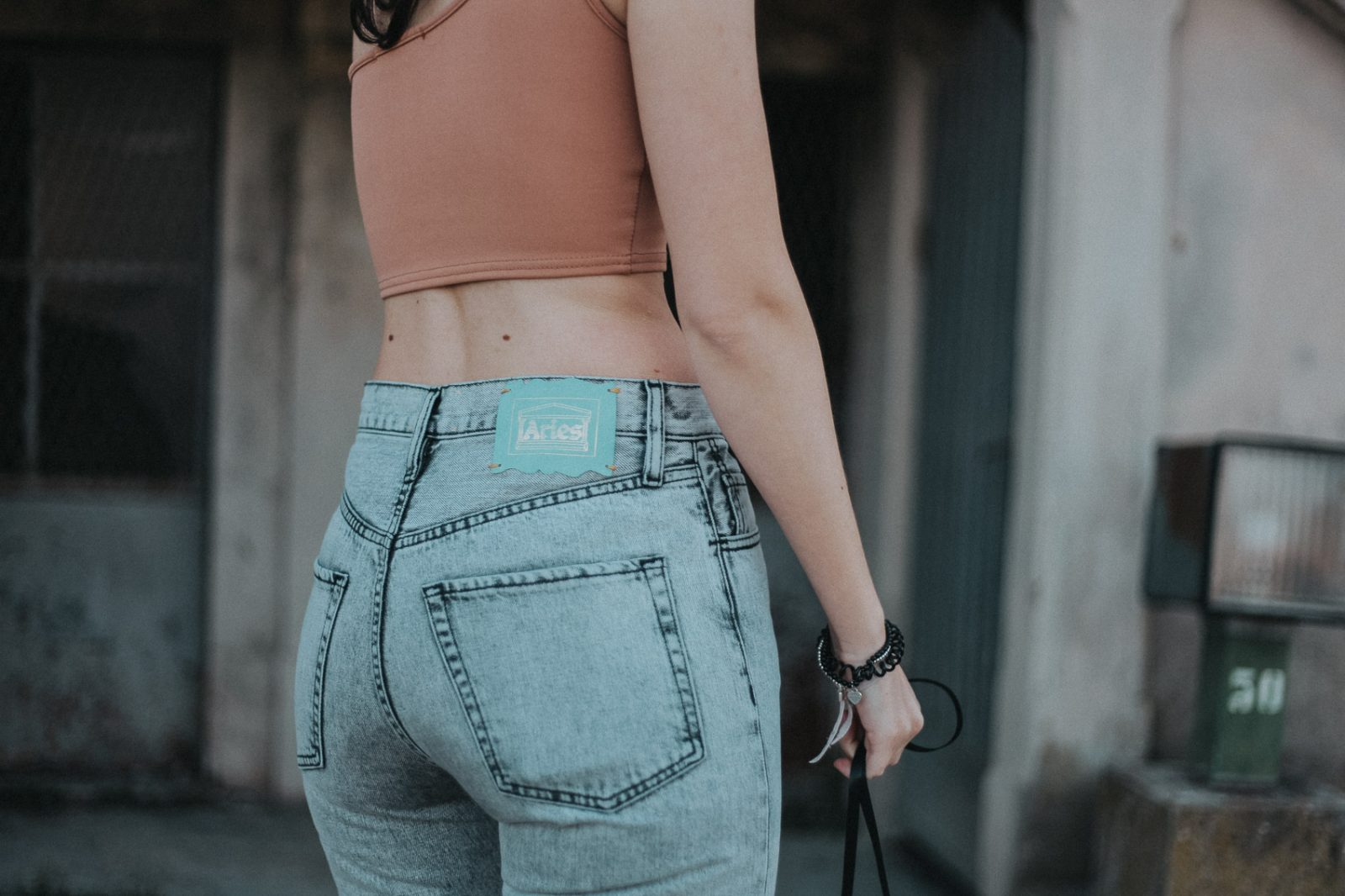 Aries Arise high waisted mom jeans