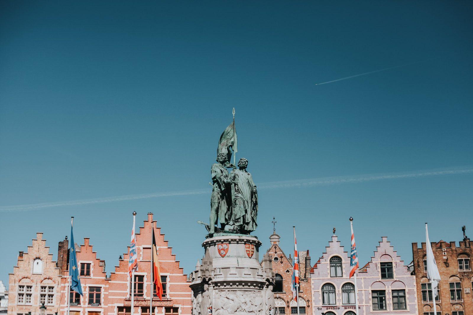 the markt square of bruges belgium