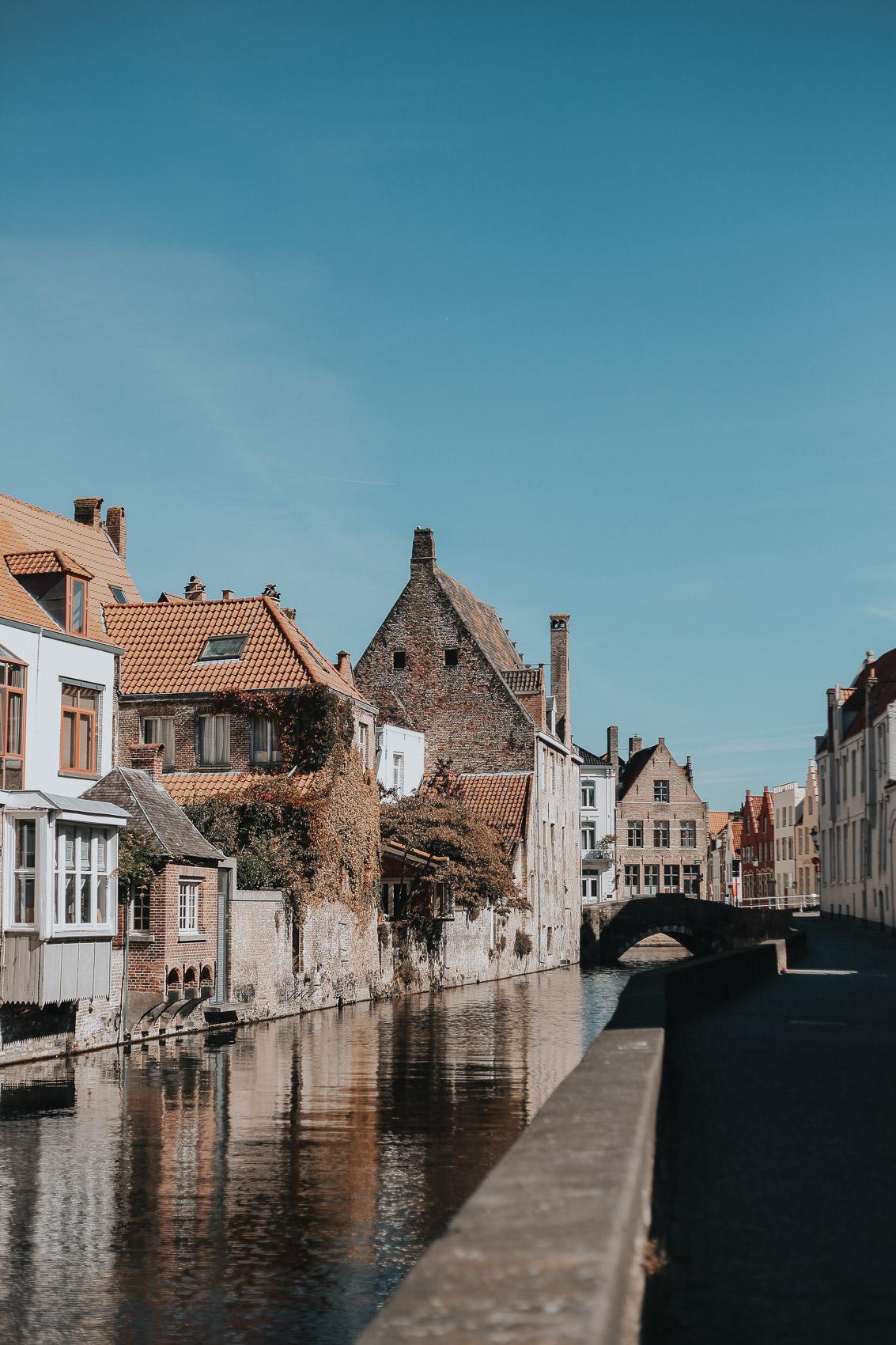 Autumn near the Canals in Bruges Belgium