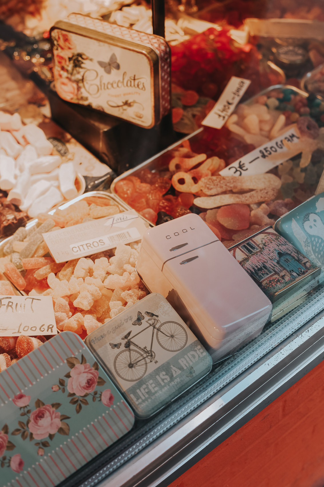 Candy Shop in Bruges Belgium