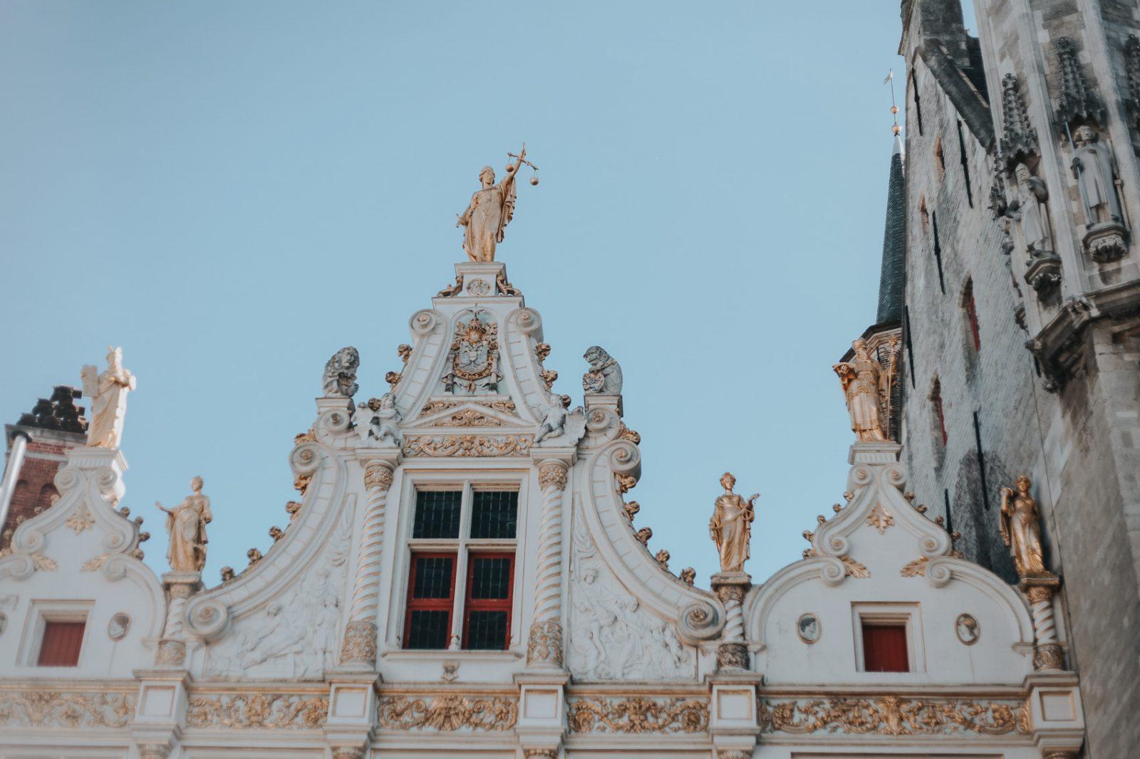 Architecture in Burg Square in Bruges