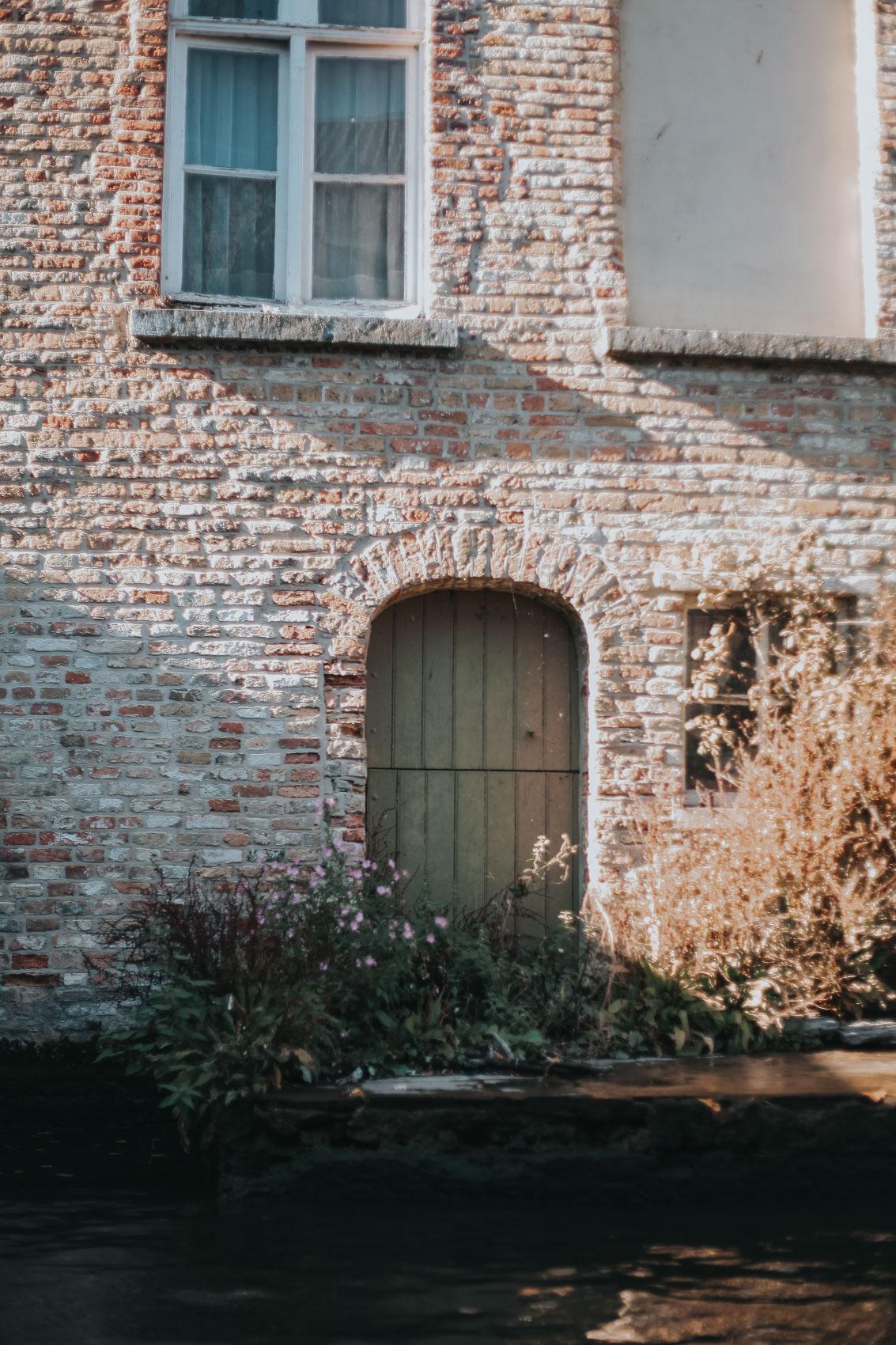 A front door in Bruges Belgium