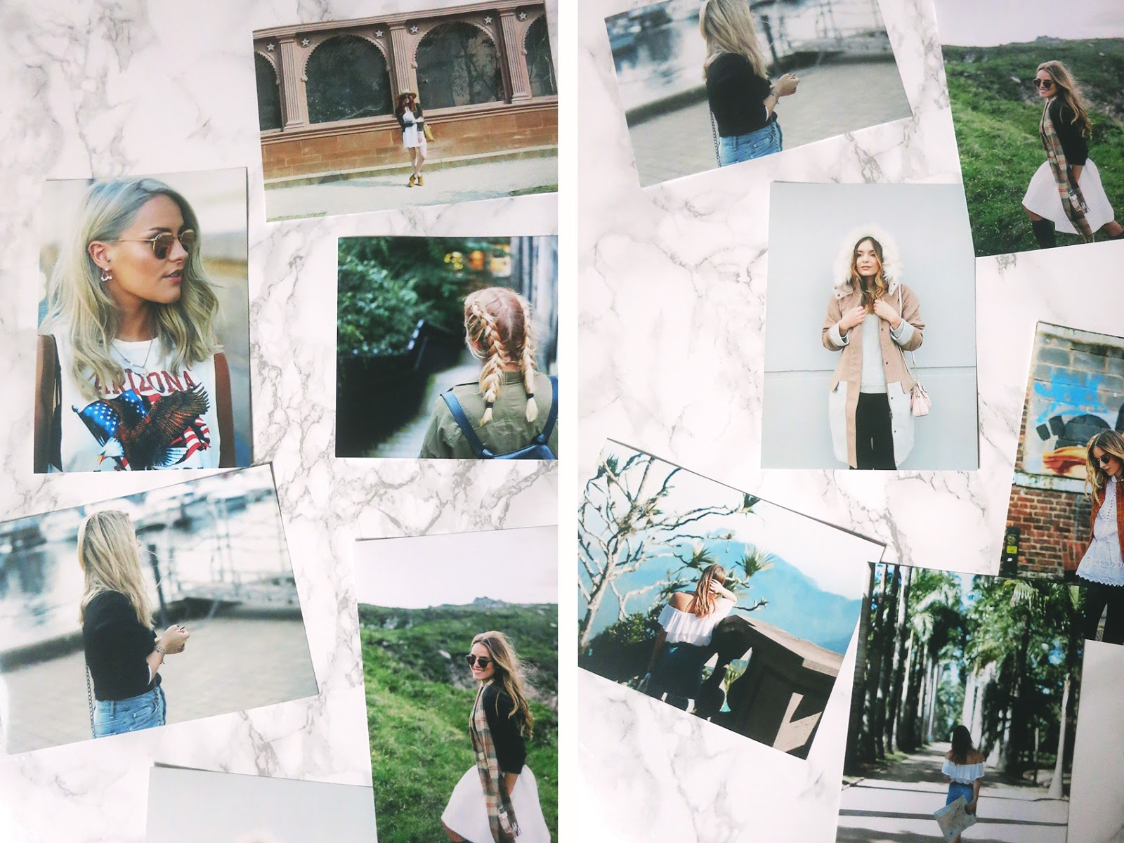 some blogger images to use as examples in photoshoot. from left to write you have the little magpie, zoella, what olivia did and girl meet glam.