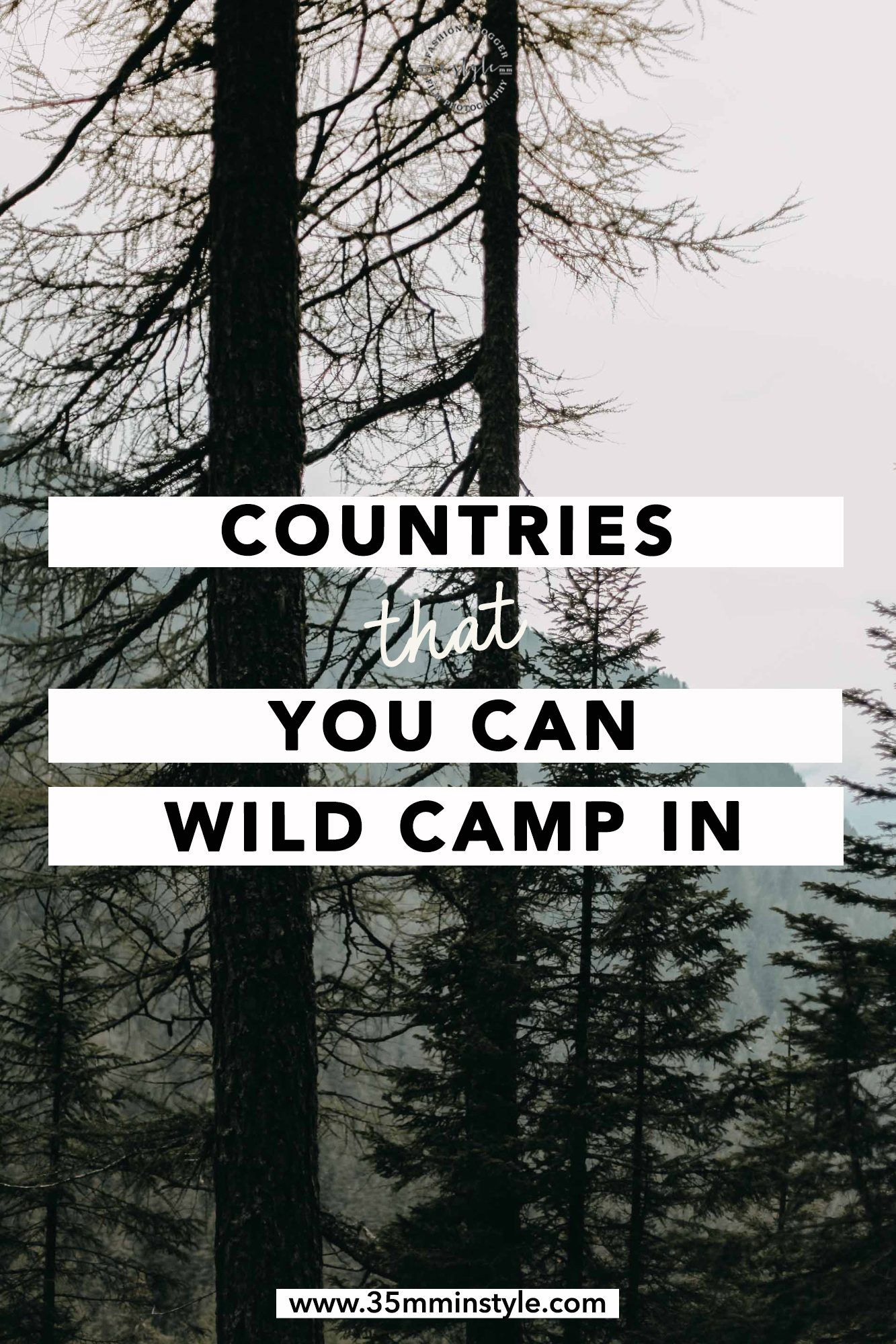 countries that you can wild camp in