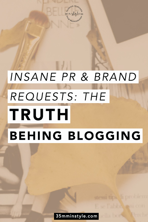 insane pr & brand collaborations the truth behind blogging